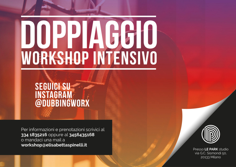 doppiaggio workshop intensivo